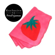Creature Clothes - Pink Strawberry Print Dog Blanket