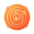 Coral Summer Orange Slow Feeder Dog Bowl 2
