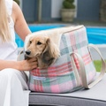 Macaroon Check Tweed Dog Carrier 2
