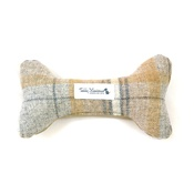 Teddy Maximus - Sand Shetland Wool Dog Bone Toy