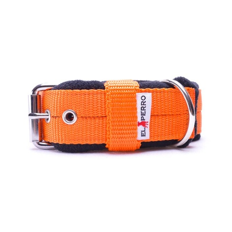 4cm width Fleece Comfort Dog Collar - Orange