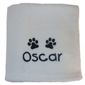 Personalised Fleece Blanket - Ivory