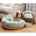 Dog Print Duck Egg Donut Bed 5