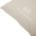 Personalised Cream Sherpa Fleece Dog Bed 4