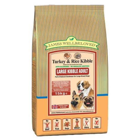 JW Adult Turkey & Rice (Large Kibble) 15kg