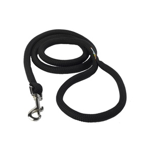 Braided Dog Lead – Jet Black