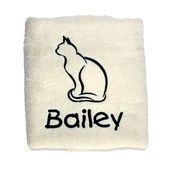 My Posh Paws - Personalised Cat Towel –  Cream