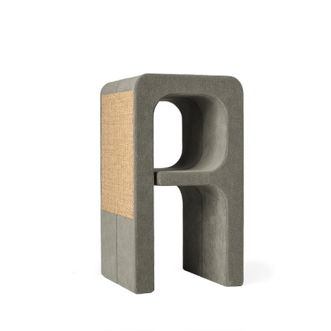 Scratching Post - Letter A - Grey