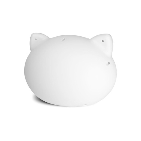 White Cat Cave with Grey Cushion 2