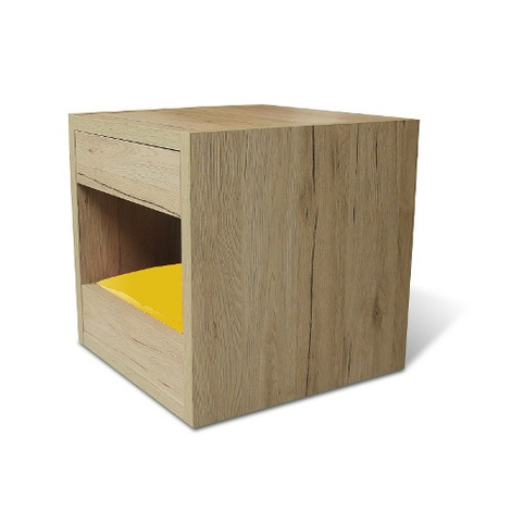 Bloq Pet Bed & Side Table - San Remo Oak 5