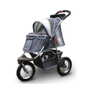 InnoPet - Grey Comfort Dog Buggy with Airfilled Tyres