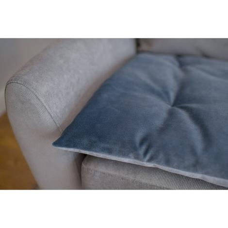 Lustre Velvet Sofa Topper - Slate 2