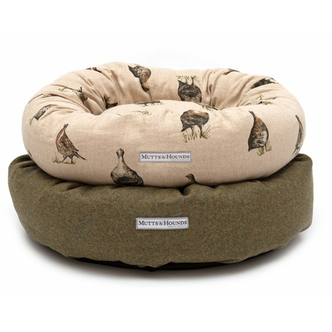 Grouse Linen Donut Bed 7