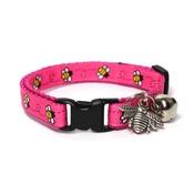 Mog's Togs - Pink Bumblebees Satefy Cat Collar