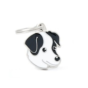 My Family - Jack Russell Engraved ID Tag – Black & White