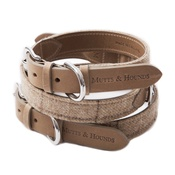 Mutts & Hounds - Oatmeal Check Tweed Dog Collar