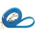 Heavenly Blue and Gold Luxury Leather Lead