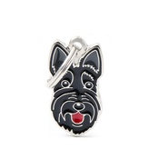 My Family - Scottish Terrier Engraved ID Tag