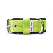 El Perro - 4cm width Fleece Comfort Dog Collar - Neon Green