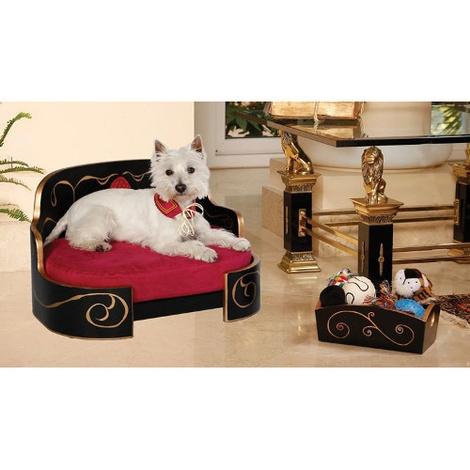 Russian Imperial Gold & Magenta Dog Sofa 4