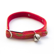Hiro + Wolf - Kiwi Shweshwe Red Cat Collar
