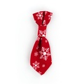 Snowflake Dog Tie – Red 2