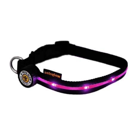 Spotlight LED Dog Collar - Pink