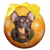 NFP - Black Chihuahua Christmas Bauble