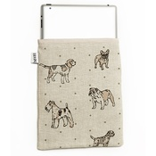 Mutts & Hounds - Dogs Linen Tablet Case - Natural