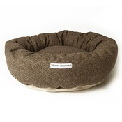 Mutts & Hounds - Herringbone Tweed Donut Dog Bed