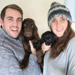 Veterinary nurse Stephanie & her Spaniels