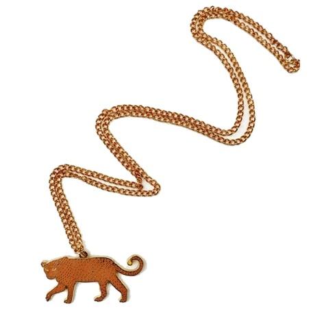 Enamel Leopard Necklace 2