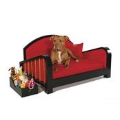 Katalin zu Windischgraetz - Black & Maroon Art Deco Dog Sofa
