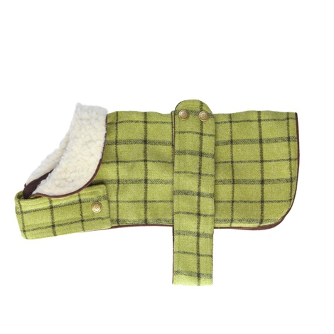 Tweed Dog Coat – Green