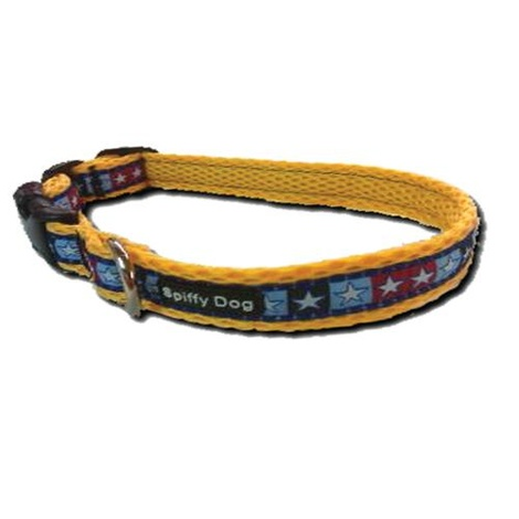 Yellow Star Pattern Dog Collar