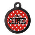 I'm Chipped Polka Dot Pet ID Tag - Red