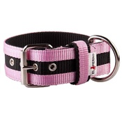 El Perro - Juicy Strip Dog Collar - Baby Pink