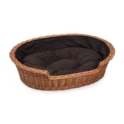 Prestige Wicker - Wicker Pet Basket with Dark Cushion