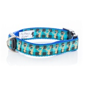 Pet Pooch Boutique - Blue Heritage Stag Collar