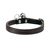 Bobby - Large Escapade Leather Cat Collar – Brown