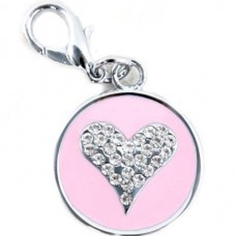 Starry Eyed Heart Tag - Pink