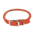 Rolled Leather Dog Collar – Orange