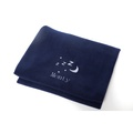 Personalised Navy Snooze Pet Blanket - Classic font 2