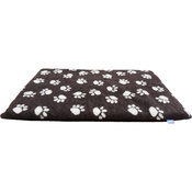 Hem & Boo - Paws Fleece Crate Mat - Brown