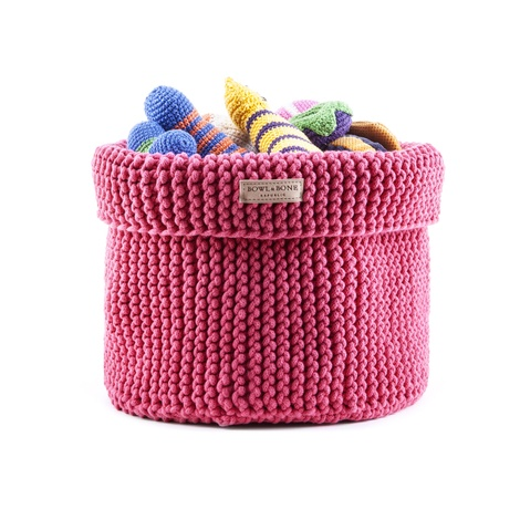 Cotton Toy Basket - Pink