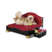 Katalin zu Windischgraetz - Classic Black & Gold Dog Sofa