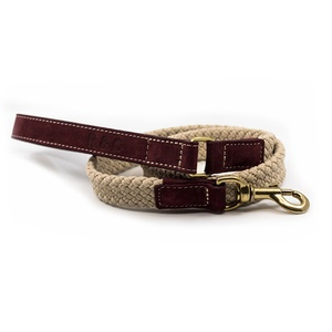 Rope lead (flat) - Burgundy