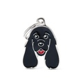 Cocker Spaniel Engraved ID Tag – Black