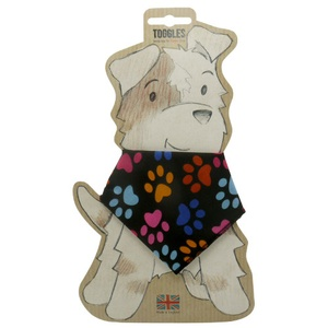 Toggles Pawprints Puppy & Dog Bandana