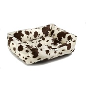 Pet Pooch Boutique - Brown Cow Dog Bed